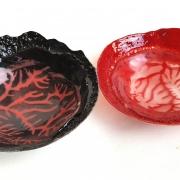fusing en pâte de verre, 'Arterien', Mirjam van der Hoorn