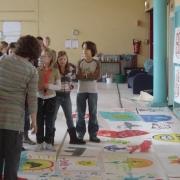 bekijken van de schilderingen