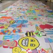 schilderingen kinderen uitgeknipt