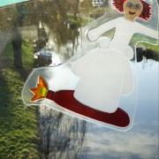 vliegend meisje
