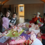 'bouwen met snoep'  workshop