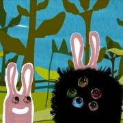 animatie 'ziet hij konijneoren, dan groeit hij konijnenoren'