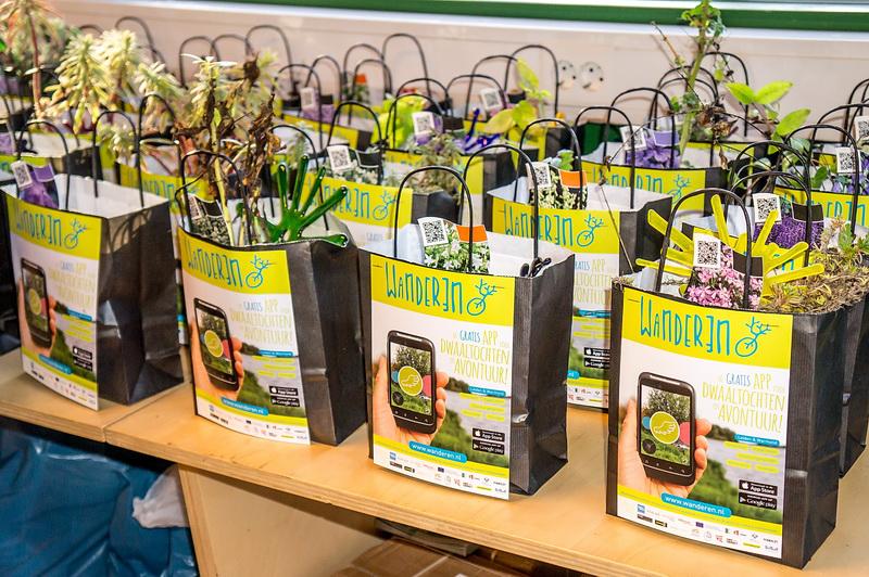 gift bags voor mensen die bijgedragen hebben