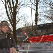 montage in bomen, hulp Paul Bouter